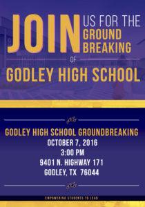 New High School groundbreaking flyer